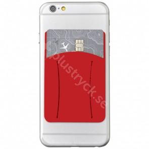 Storee kortficka med fingerögla i silikon till smarttelefon