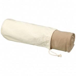 Aira RPET fleecefilt i mikroplysch med bomullspåse