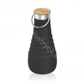 Läckagesäker hopvikbar flaska i silikon