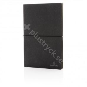 A5 anteckningsbok i återvunnet läder