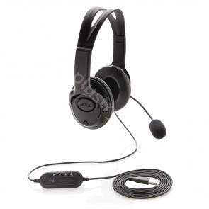 Over-ear headset med kabel