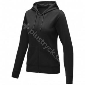 Theron hoodie med dragkedja dam