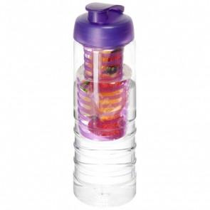 H2O Treble 750 ml sportflaska med uppfällbart lock och fruktkolv