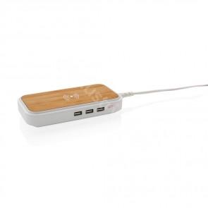 Bambu 5W trådlös laddare med 3 USB portar