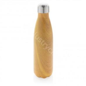 Vakuumisolerad ss flaska med trätryck