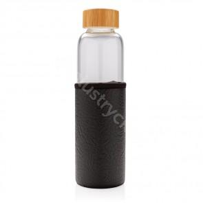 Borosilikat glasflaska med texturerad pu-sleeve