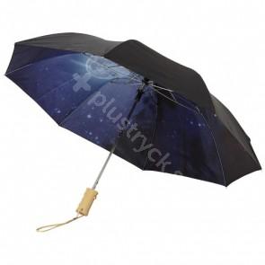 """Clear-night 21"""" hopfällbart automatiskt paraply"""