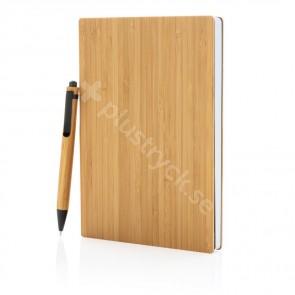A5 bambu anteckningsbok & penna