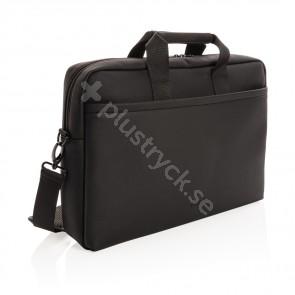 Swiss peak lyxig laptopväska i veganskt läder, pvc-fri