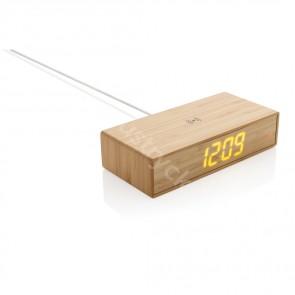 Bambu väckarklocka med 5W trådlös laddning