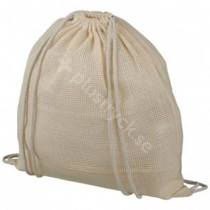 Maine ryggsäck av bomullsnät med dragsko