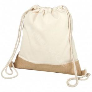 Delhi bomullsjute ryggsäck med dragsko