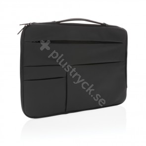 """Smooth pu 15.6"""" laptop sleeve with handle"""