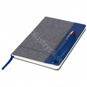 Heathered A5 anteckningsbok med läderimiterad yta
