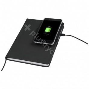 Cation anteckningsbok med trådlös laddningsplatta