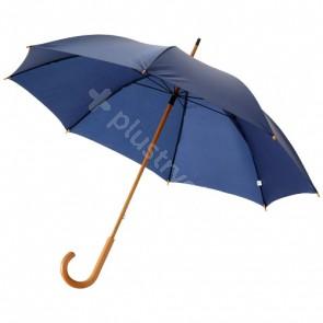 """Jova 23"""" paraply med skaft och handtag i trä"""