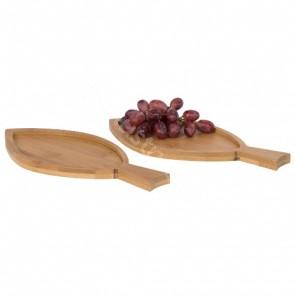 Anna 2-delars serveringsbricka i fiskform gjord av bambu