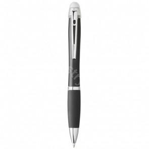 Nash kulspetspenna som lyser med svart pennkropp och grepp